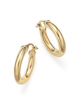 14 K Yellow Gold Tube Hoop Earrings   100 Percents Exclusive by Bloomingdale's