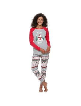 """Women's Jammies For Your Families Polar Bear Fairisle Family Pajamas """"Mama Bear"""" Top & Bottoms Set By Cuddl Duds by Kohl's"""