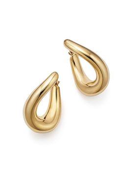 14 K Yellow Gold Medium Oval Twist Hoop Earrings   100 Percents Exclusive by Bloomingdale's