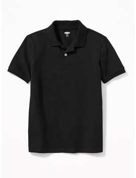 Stain Resistant Uniform Pique Polo For Boys by Old Navy