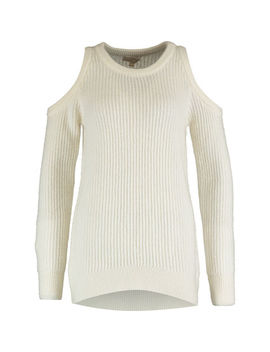 Cream Cold Shoulder Jumper by Michael Kors