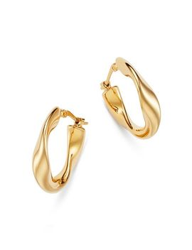 Flat Twist Hoop Earrings In 14 K Yellow Gold   100 Percents Exclusive by Bloomingdale's