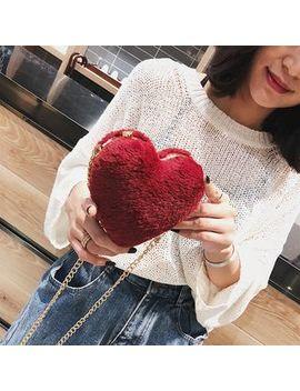 Rainbo   Heart Shape Chain Strap Shoulder Bag by Rainbo