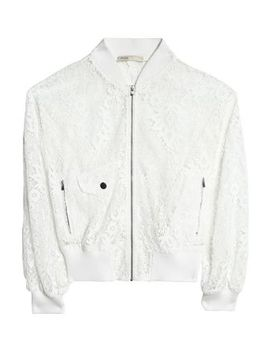 Guipure Lace Bomber Jacket by Maje