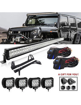 "52"" 700 W Led Light Bar+4x 18 W Pods+ Mount Bracket Fit For Jeep Wrangler Jk 50 by Turbosii"