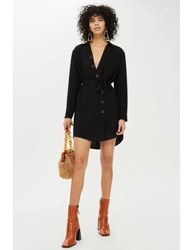 Tall Horn Button Shirt Dress by Topshop
