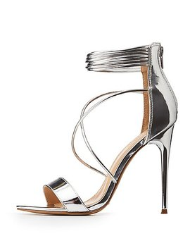 Crosscross Ankle Strap Sandals by Charlotte Russe