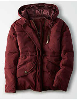 Ae Utility Puffer Jacket by American Eagle Outfitters