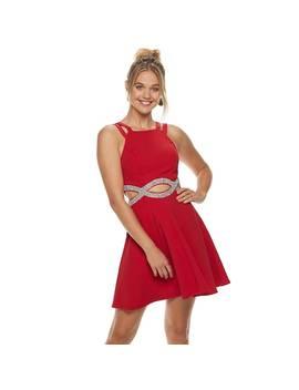 Juniors' Speechless Infinity Cutout Waist Skater Dress by Kohl's