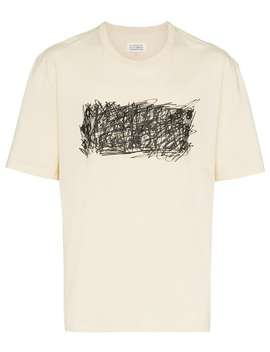 Scribbled Logo Print T Shirt by Maison Margiela
