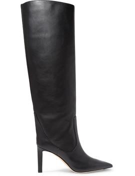Mavis 85 Leather Knee Boots by Jimmy Choo