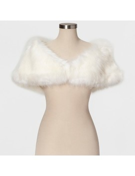 Women's Faux Fur Shrug   Estee & Lilly Cream by Estee & Lilly