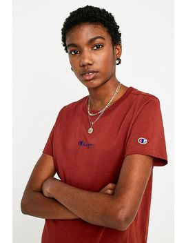 Champion Logo Script T Shirt by Champion