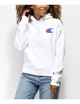 Champion Reverse Weave Sublimated White Hoodie by Champion