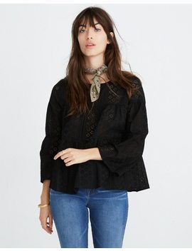 Eyelet Tiered Button Back Top by Madewell