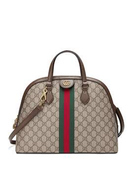Ophidia Medium Web Gg Supreme Top Handle Bag by Gucci