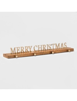 Stocking Holder Merry Christmas Gold   Threshold™ by Shop This Collection