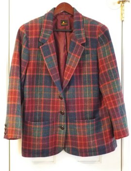 1990s Plaid Jacket Women's Preppy Vintage Coat by Etsy