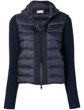 Knit Panel Padded Jacket by Moncler