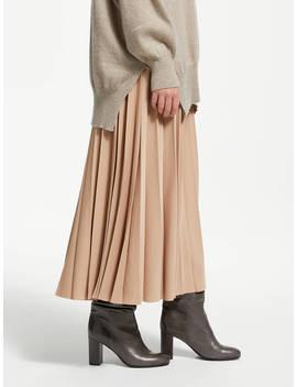 Modern Rarity Sunray Pleated Midi Skirt, Camel by Modern Rarity