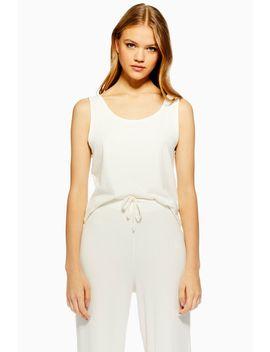 Cream Brushed Ribbed Pyjama Set by Topshop