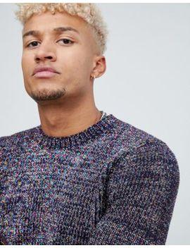 Asos Design Multicoloured Tinsel Fisherman Rib Sweater by Asos Design