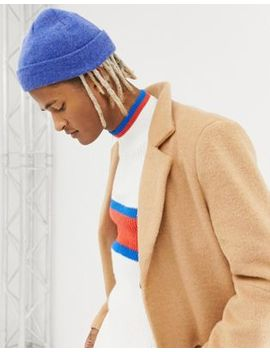 Asos Design Fisherman Beanie In Blue Texture by Asos Design