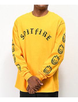 Spitfire Old E Gold Long Sleeve T Shirt by Spitfire