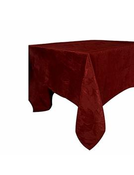 Kimz Tablecloth Linen Rectangle Polyester Tablecloth Maroon For Square Table (54in X 72in) by Kimz