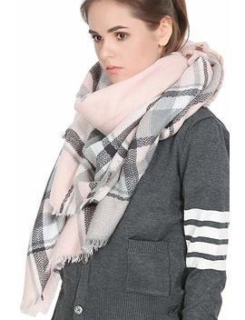 Yanekop Womens Tassels Soft Plaid Tartan Scarf Winter Large Blanket Wrap Shawl by Yanekop