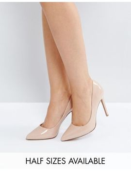 Asos Design – Paris – Spetsiga Pumps Med Hög Klack I Nyansen Almond by Asos