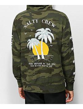 Salty Crew Twin Palms Camo Hoodie by Salty Crew