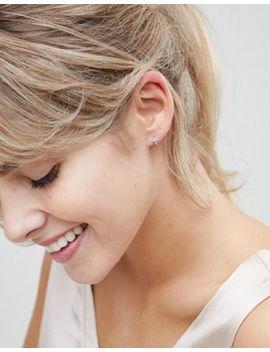 astrid-&-miyu-18k-rose-gold-plated-cross-huggie-hoop-earrings by astrid-&-miyu