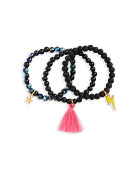 3 Pack Beaded Bracelets by Heart Me
