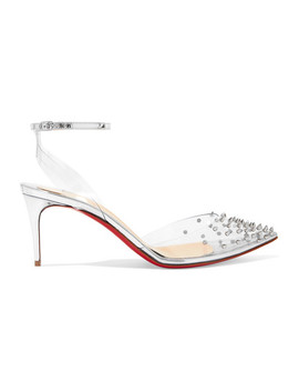 Spikoo 70 Spiked Pvc And Mirrored Leather Pumps by Christian Louboutin