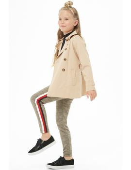 Girls Striped Glen Plaid Pants (Kids) by Forever 21