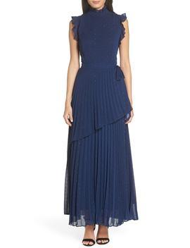 Wrap Waist Pleated Maxi Dress by Chelsea28