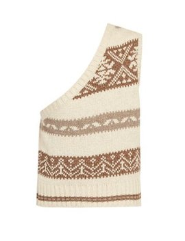 Nordic Knit One Shoulder Sleeveless Sweater by Matches Fashion