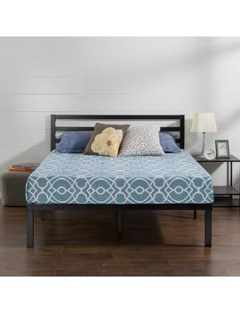 Priage Quick Lock 14 Inch Metal Platform Bed Frame With Headboard by Priage