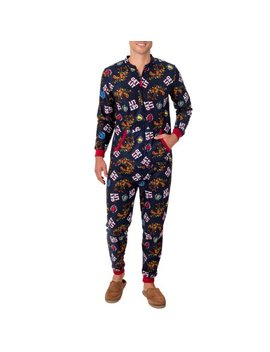 Men's Fruit Of The Loom Holiday Print Fleece Union Suit by Fruit Of The Loom