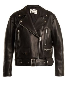 Merlyn Oversized Leather Biker Jacket by Matches Fashion