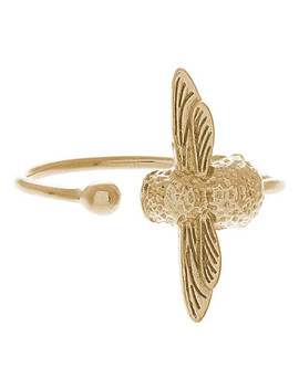Moulded Bee Gold Ring by Olivia Burton