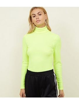 Yellow Neon Roll Neck Top by New Look