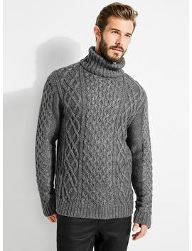 Cashmere Blend Turtleneck Sweater by Guess