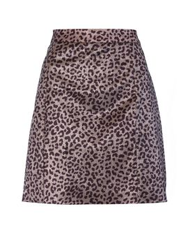 **Leopard Skirt By Glamorous Tall by Topshop