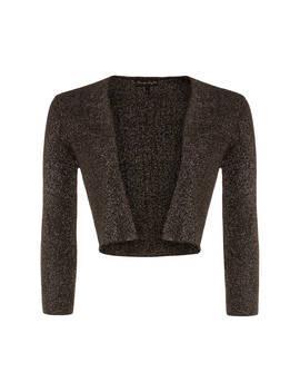 Phase Eight Shimmer Salma Knit Jacket, Dark Gunmetal by Phase Eight