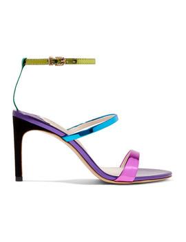 Rosalind Metallic Leather Sandals by Sophia Webster