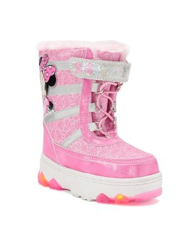 Disney's Minnie Mouse Toddler Girls' Water Resistant Light Up Winter Boots by Kohl's