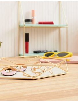 Umbra Prism Jewellery Holder In Gold by Umbra