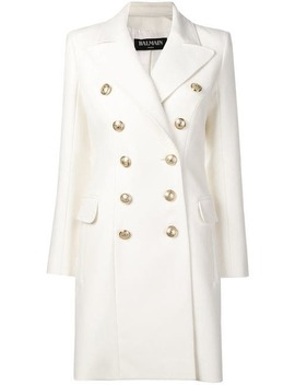 Double Breasted Fitted Coat by Balmain